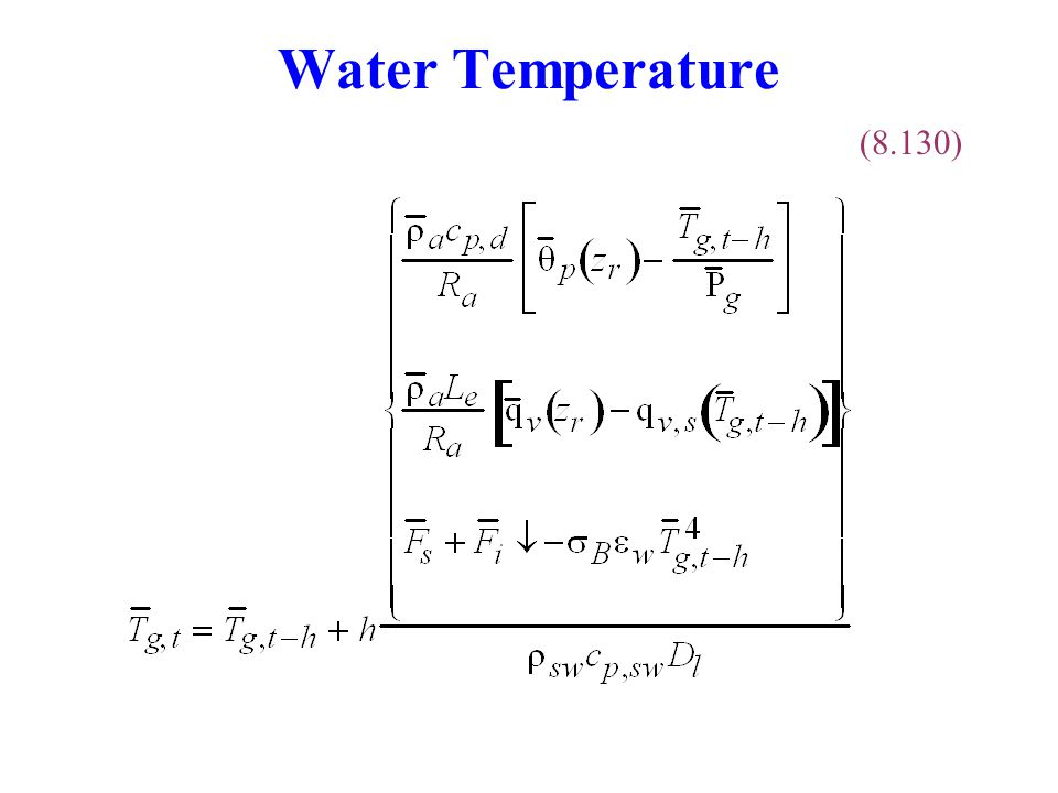 Water Temperature (8.130)