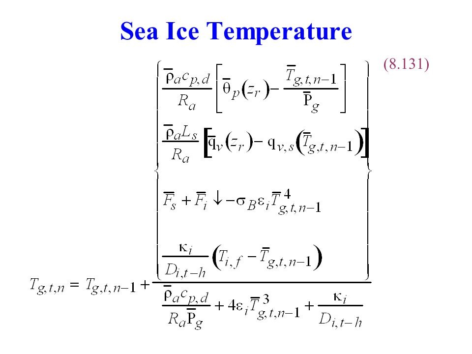 Sea Ice Temperature (8.131)