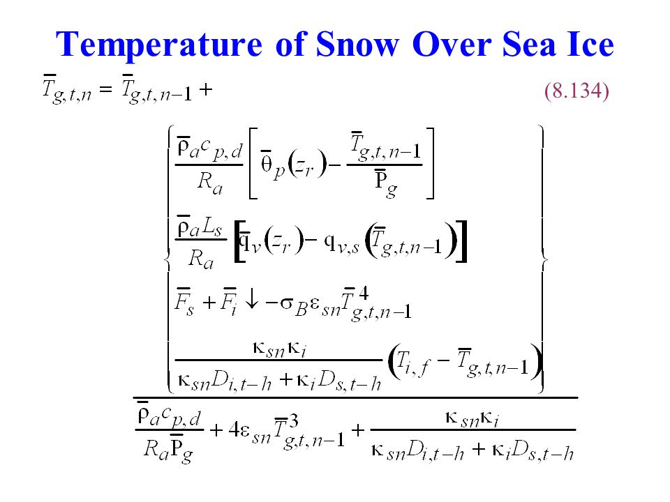 Temperature of Snow Over Sea Ice