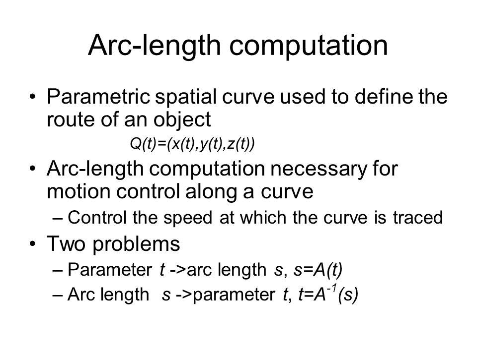 Arc-length computation