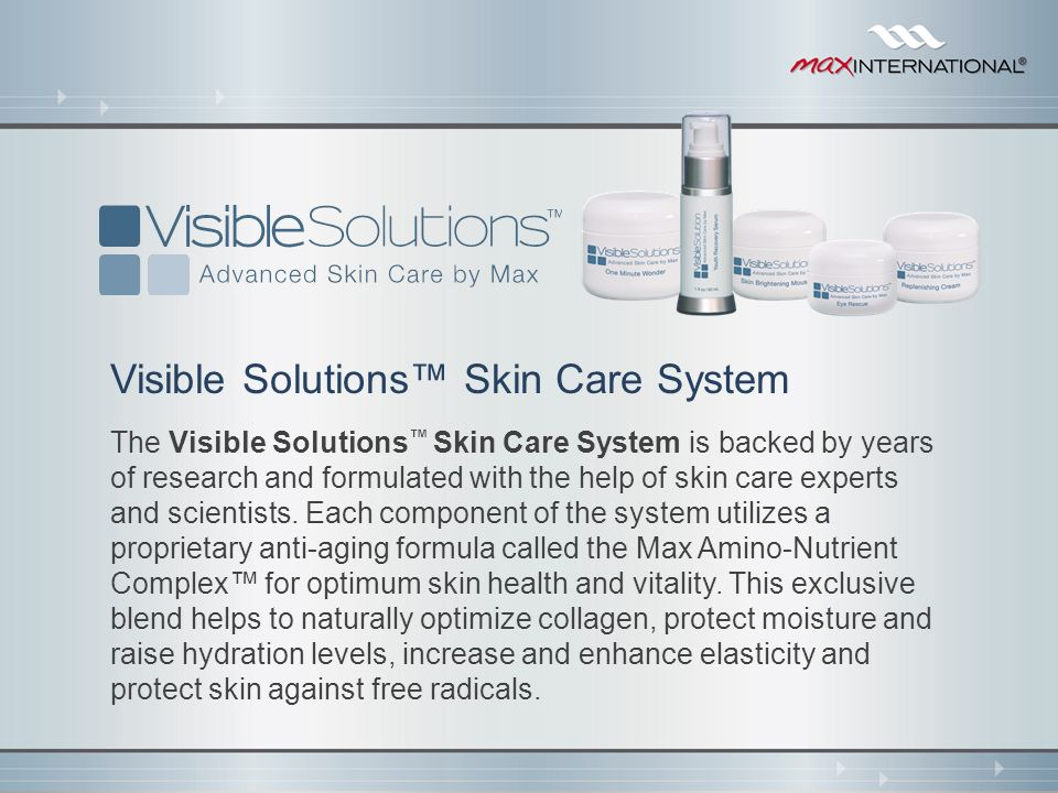 Visible Solutions™ Skin Care System