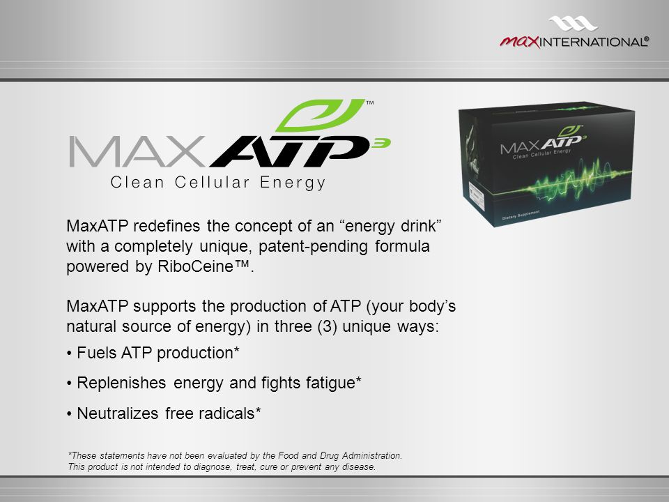 • Fuels ATP production* • Replenishes energy and fights fatigue*
