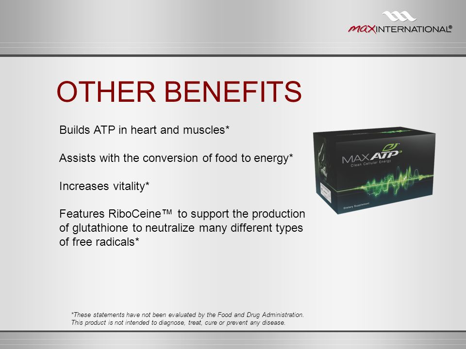 OTHER BENEFITS Builds ATP in heart and muscles*