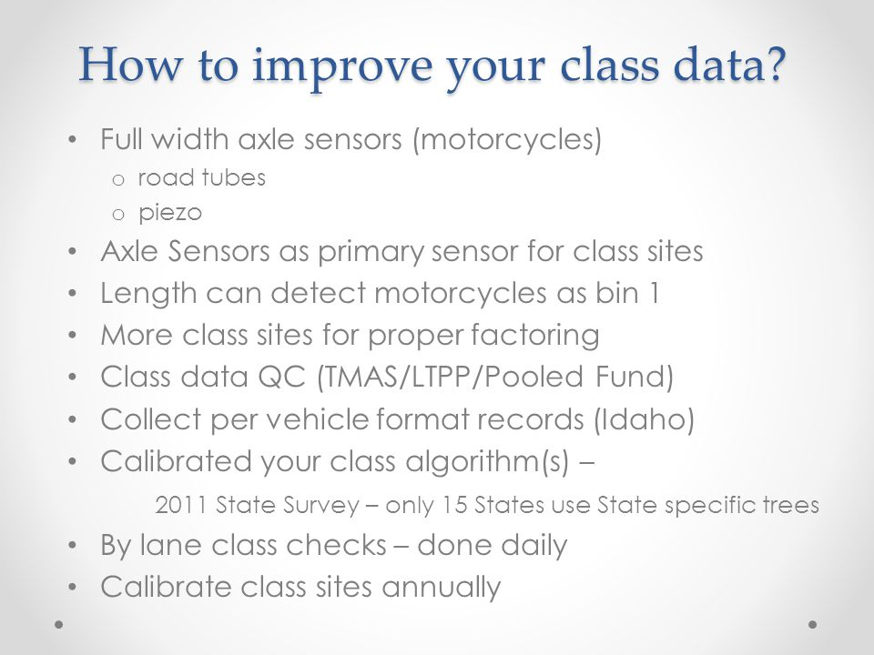 How to improve your class data