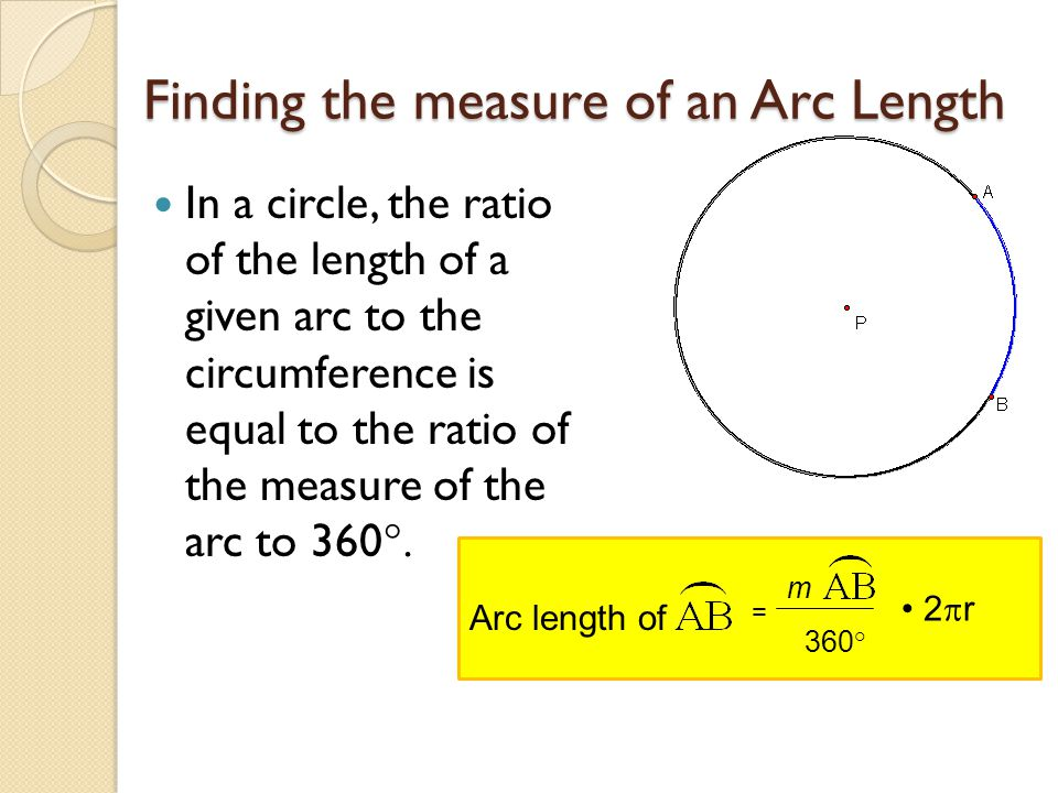 Finding the measure of an Arc Length