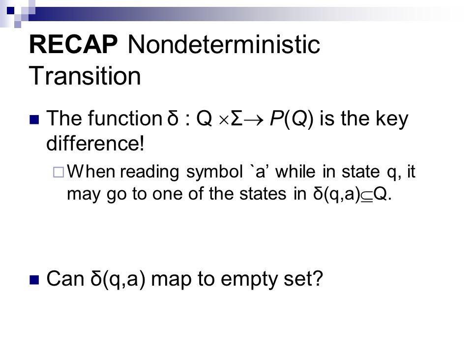RECAP Nondeterministic Transition