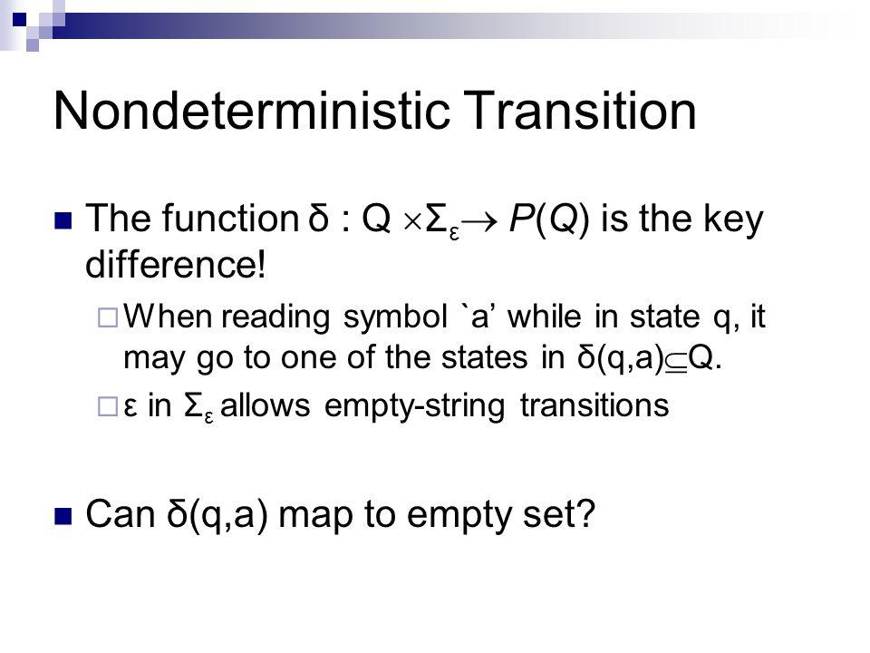 Nondeterministic Transition