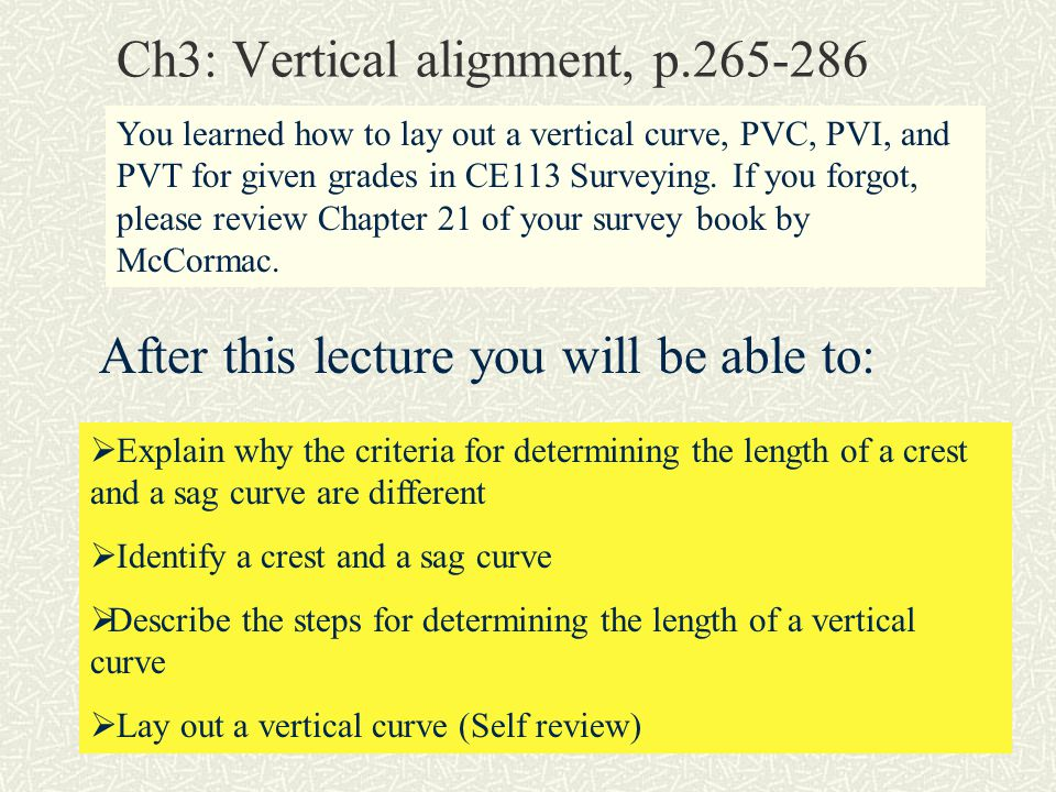 Ch3: Vertical alignment, p