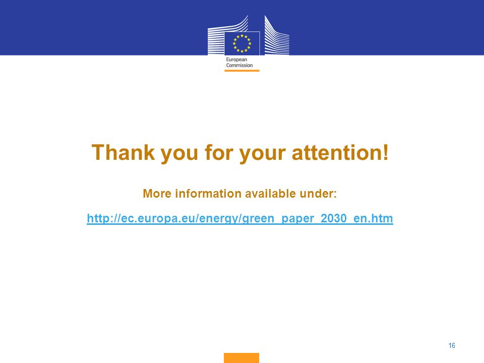 Thank you for your attention! More information available under: