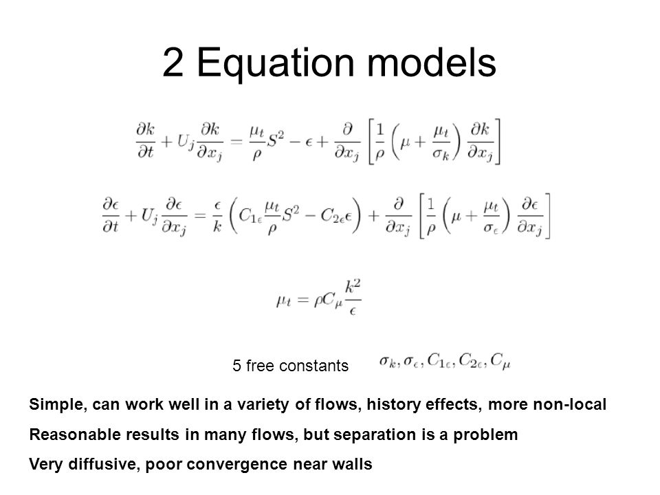2 Equation models 5 free constants