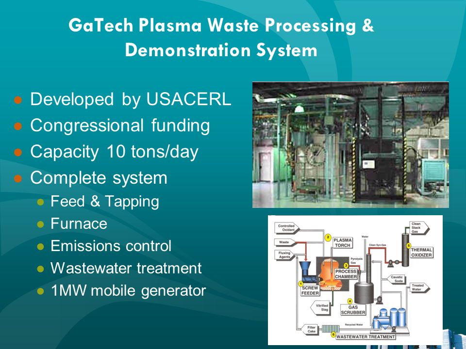 GaTech Plasma Waste Processing & Demonstration System