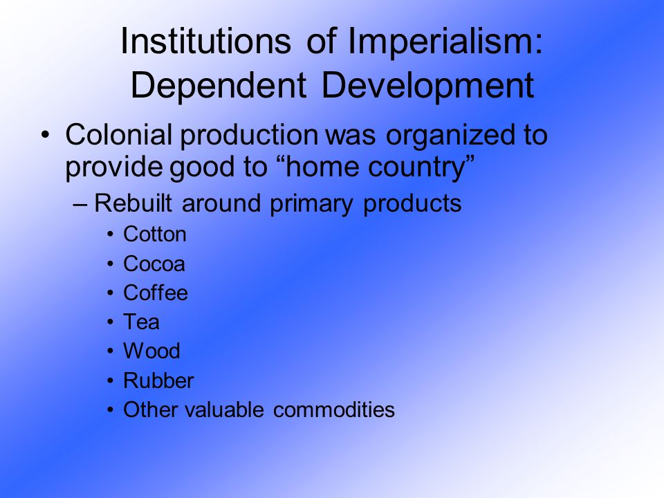 Institutions of Imperialism: Dependent Development