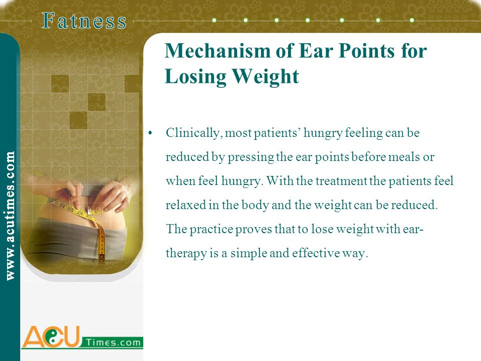Mechanism of Ear Points for Losing Weight