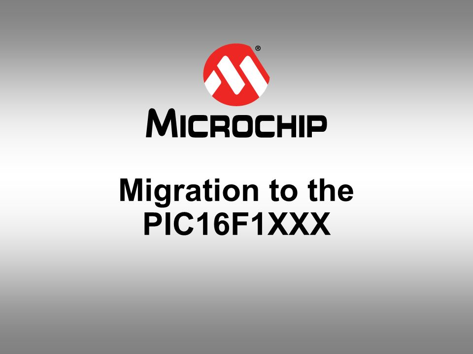Migration to the PIC16F1XXX
