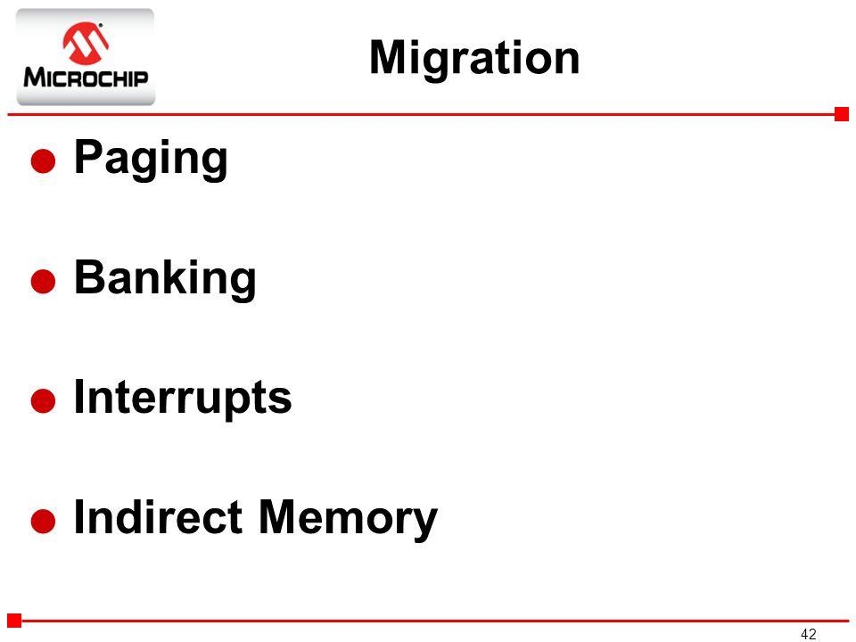 Migration Paging Banking Interrupts Indirect Memory