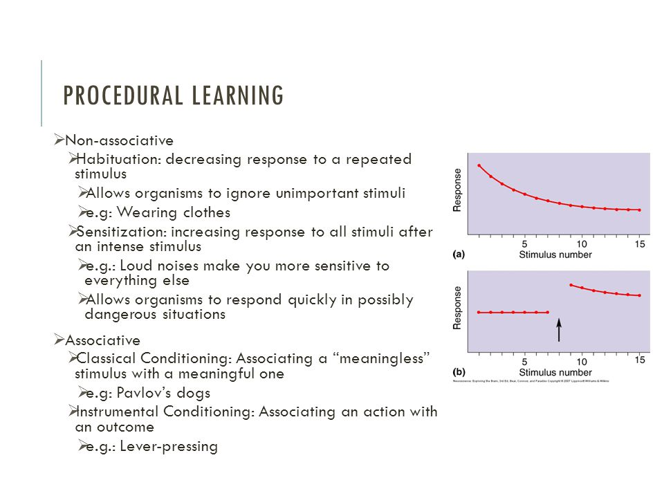 Procedural Learning Non-associative