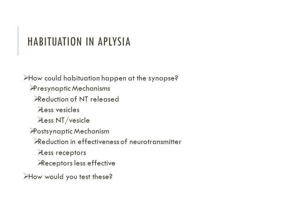 Habituation in Aplysia