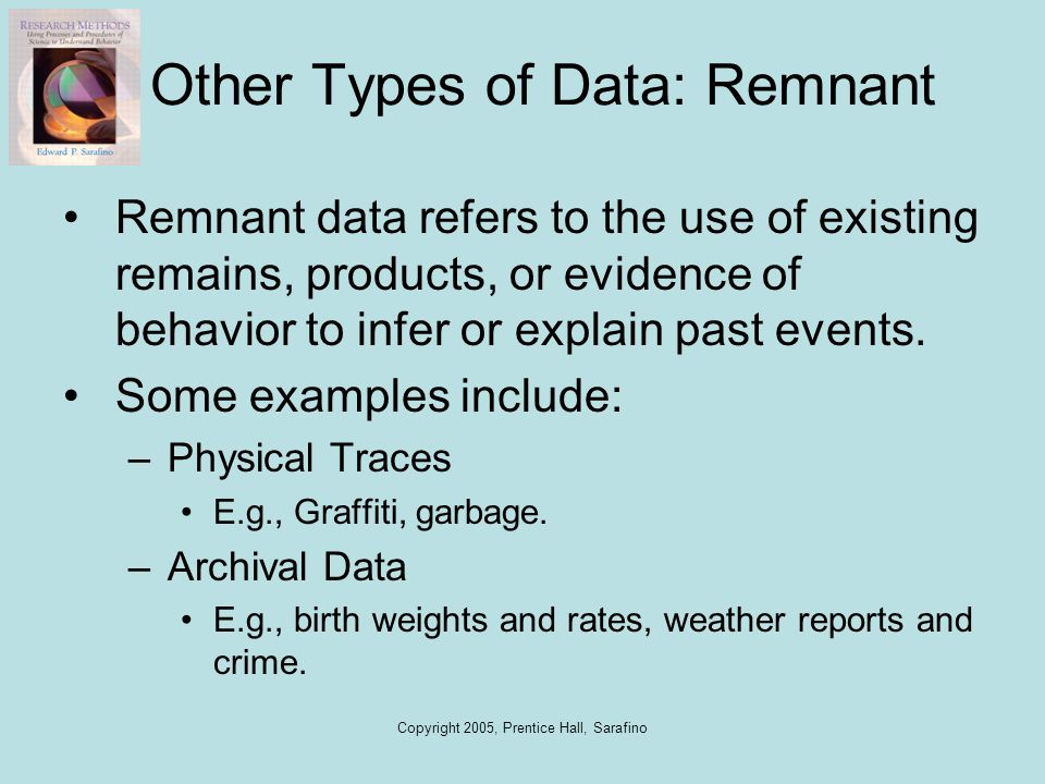 Other Types of Data: Remnant