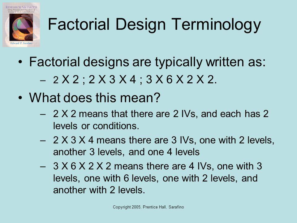 Factorial Design Terminology