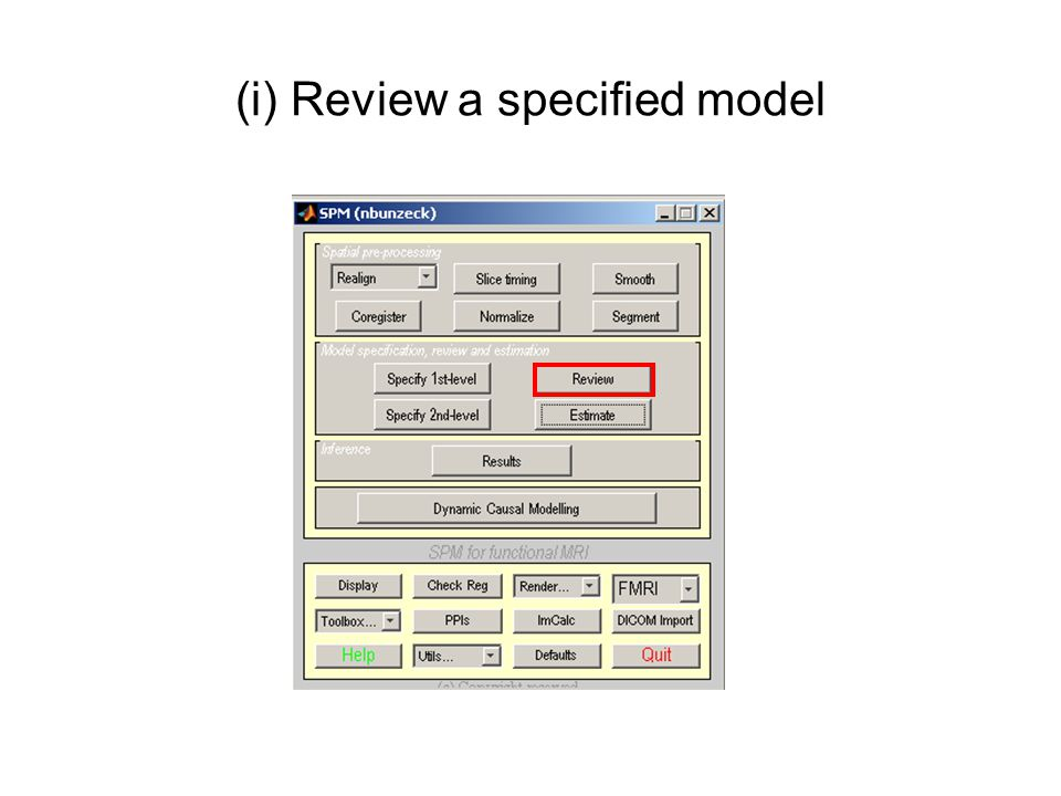 (i) Review a specified model