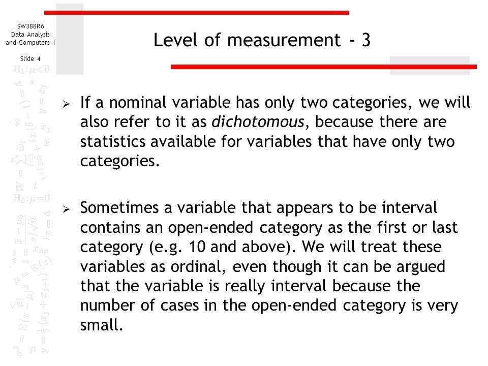 Level of measurement - 3