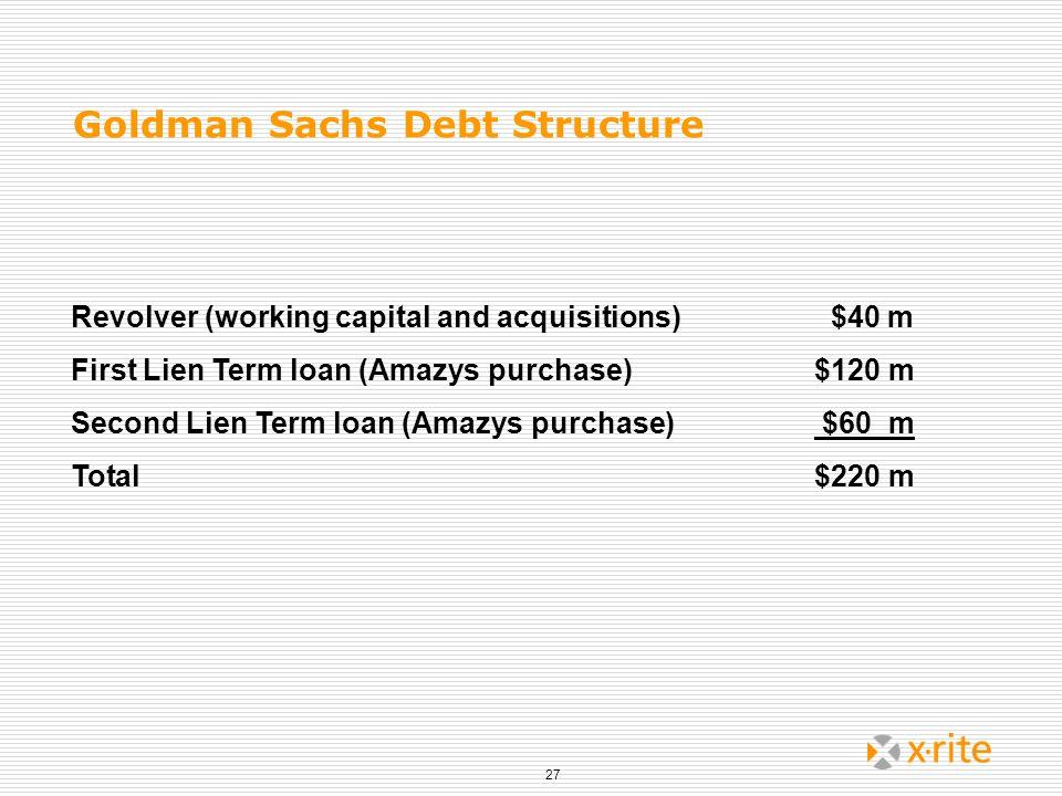 Goldman Sachs Debt Structure