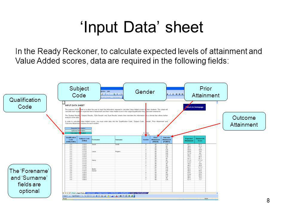 'Input Data' sheet