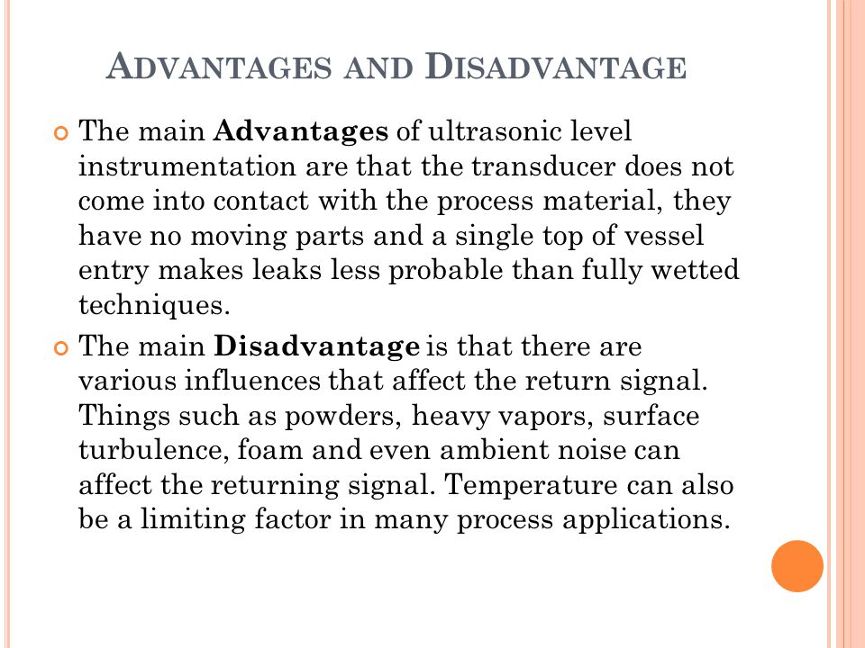 Advantages and Disadvantage