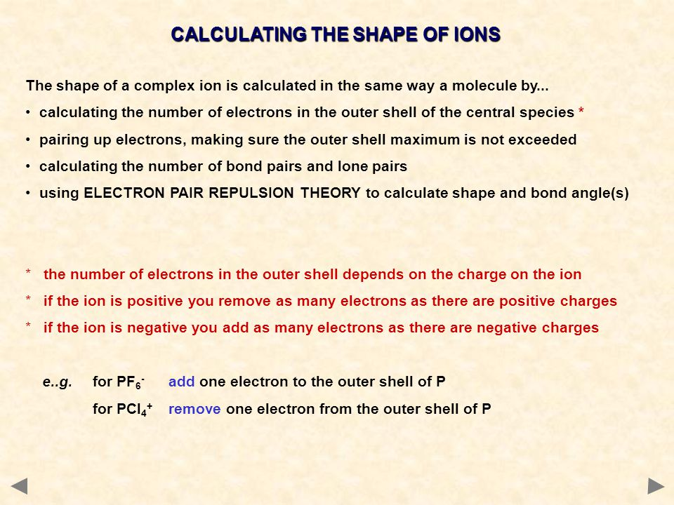 CALCULATING THE SHAPE OF IONS