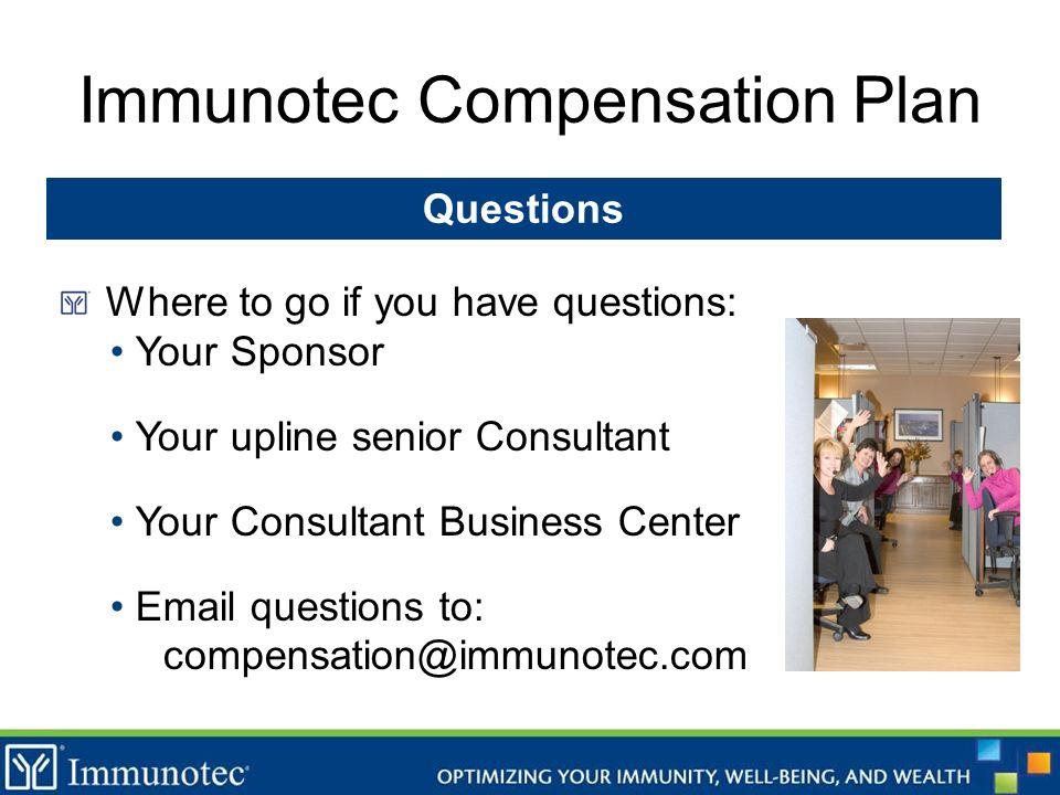 Immunotec Compensation Plan