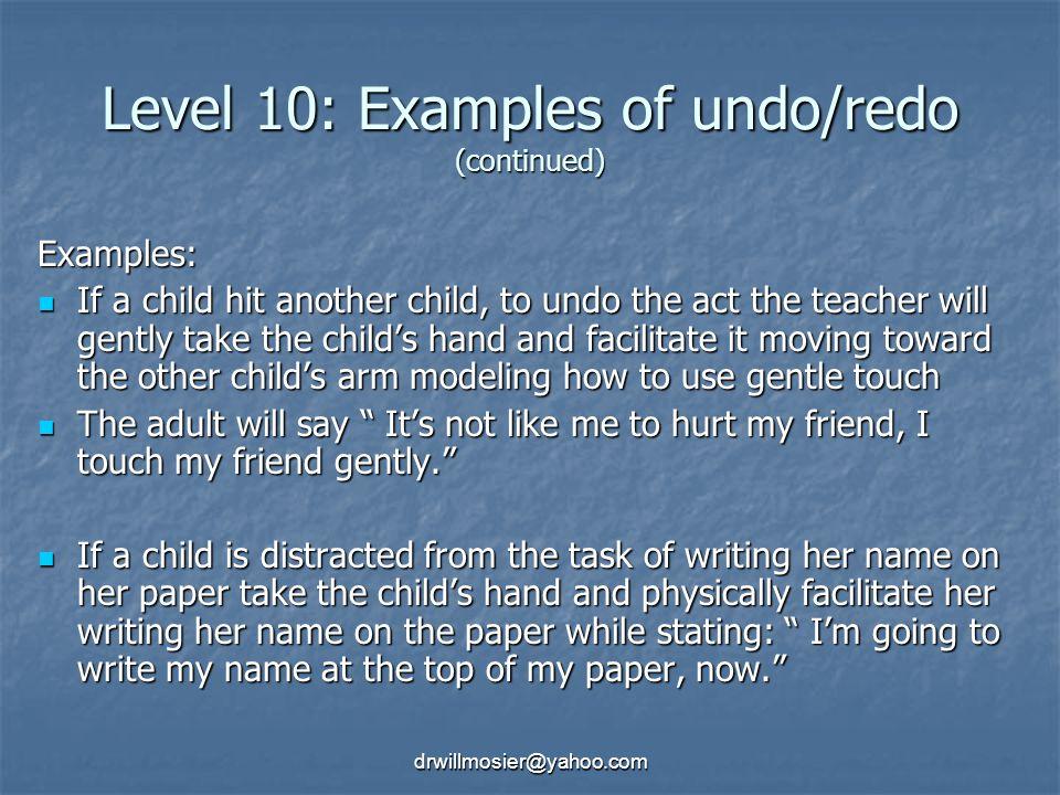 Level 10: Examples of undo/redo (continued)