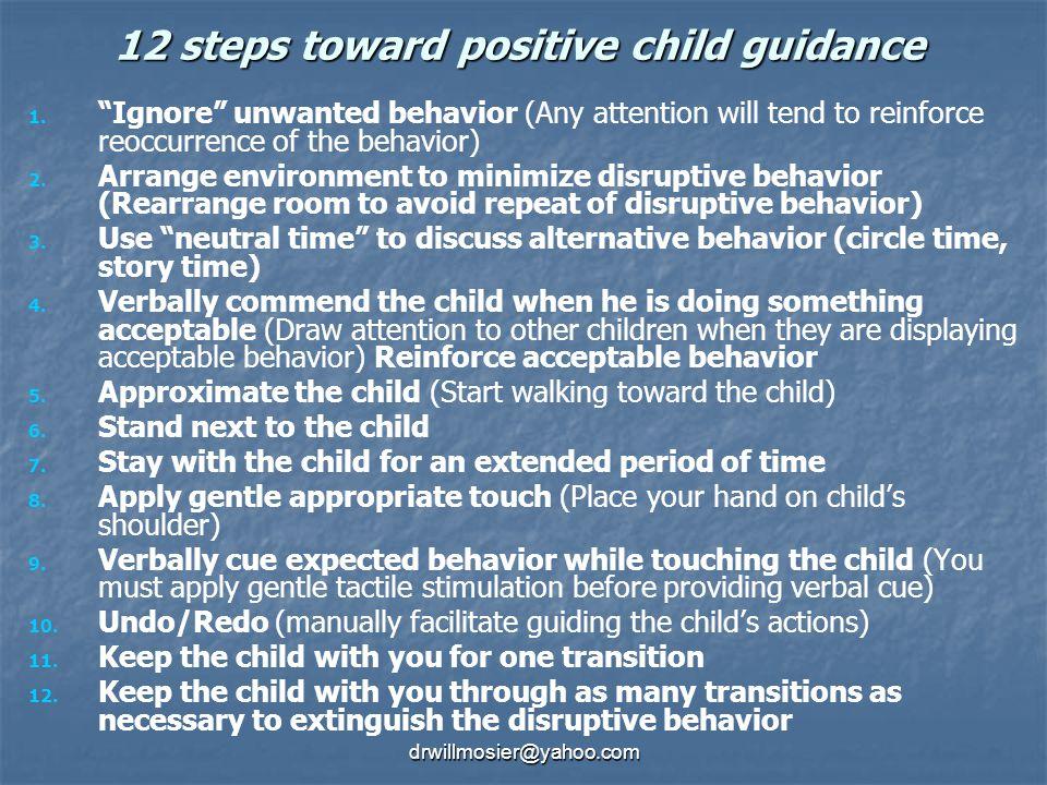 12 steps toward positive child guidance