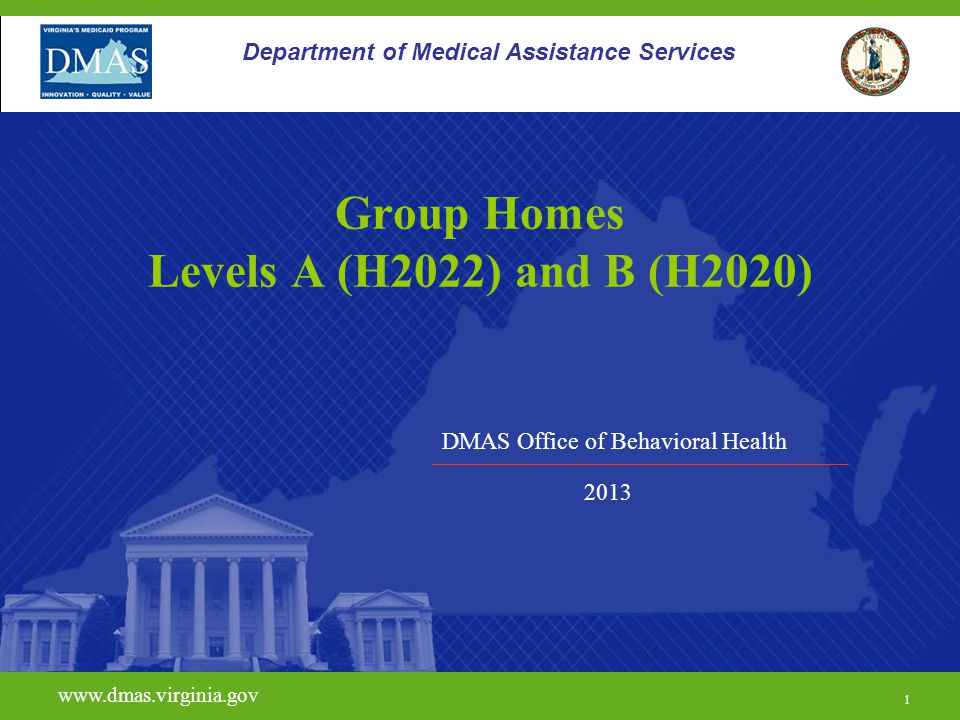 Group Homes Levels A (H2022) and B (H2020)