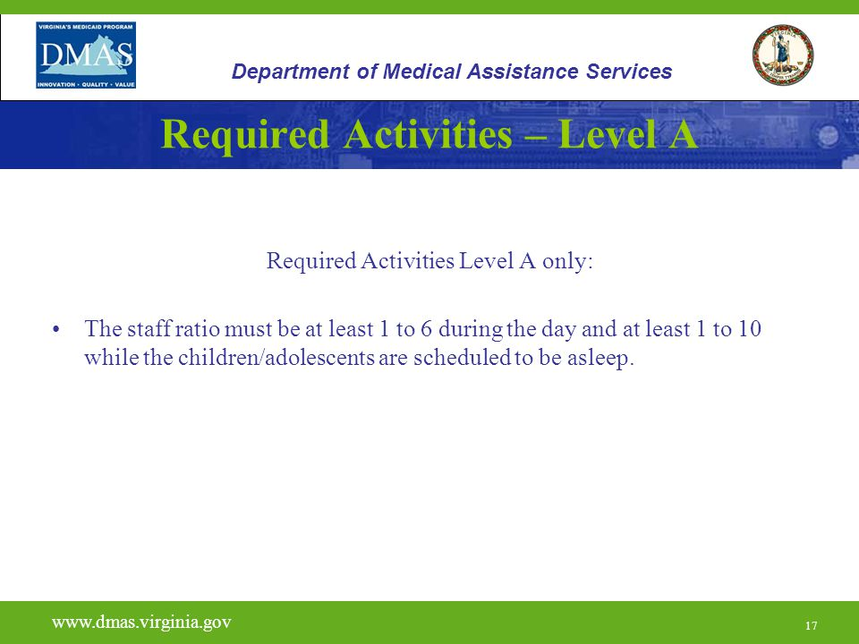 Required Activities – Level A