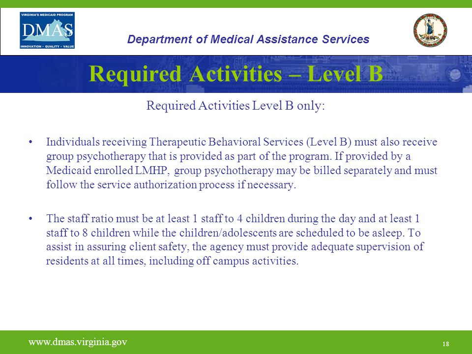 Required Activities – Level B