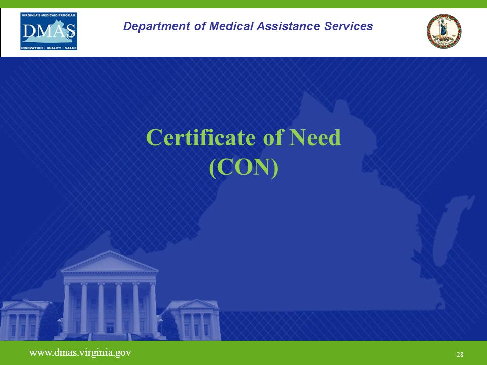 Certificate of Need (CON)