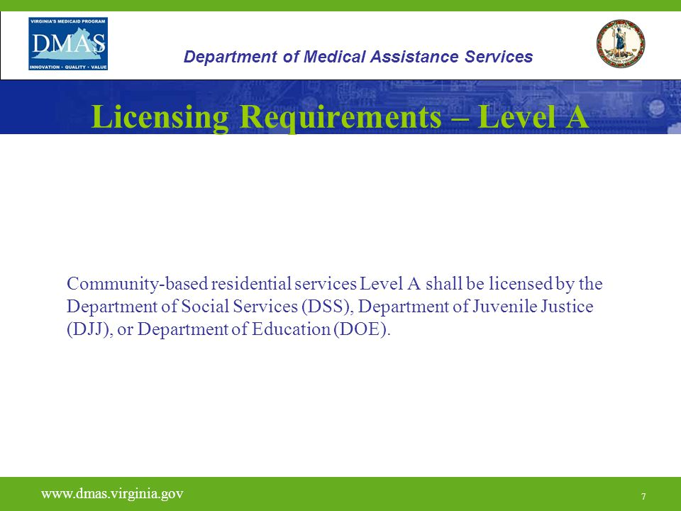 Licensing Requirements – Level A