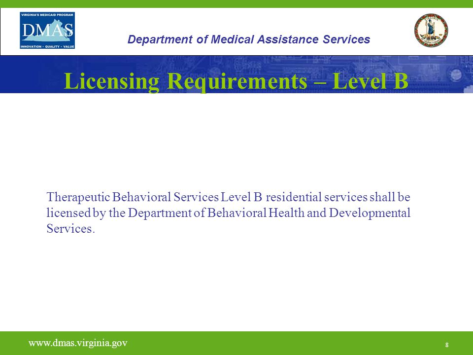 Licensing Requirements – Level B