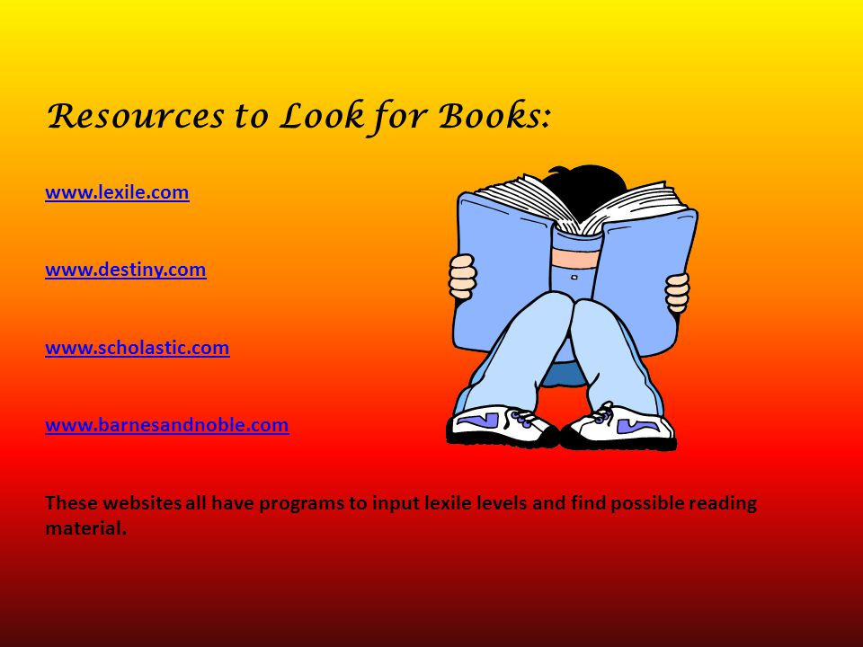 Resources to Look for Books:
