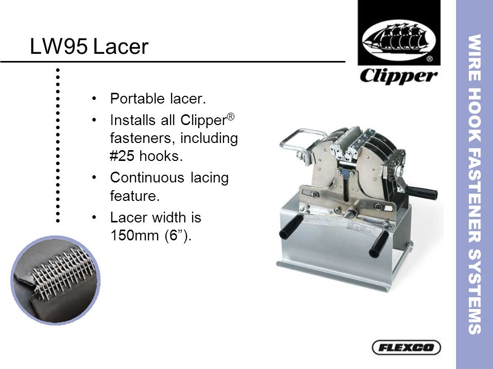 LW95 Lacer Portable lacer.