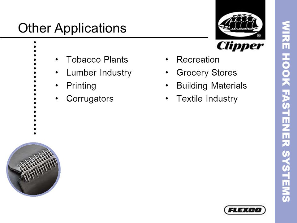 Other Applications Tobacco Plants Lumber Industry Printing Corrugators