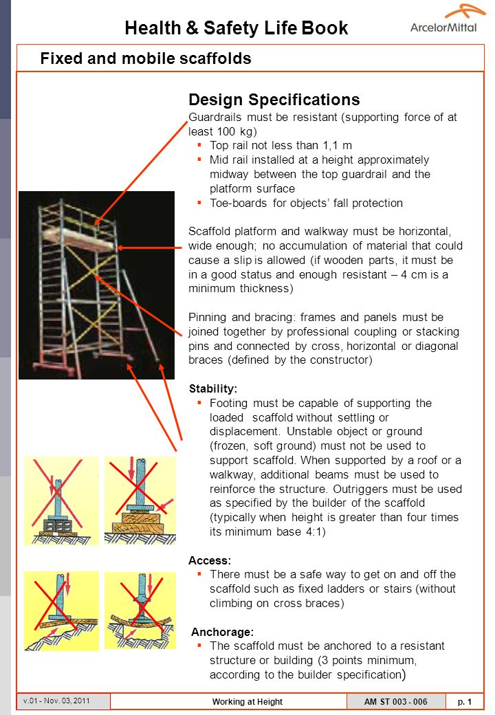 Fixed And Mobile Scaffolds Ppt Video Online