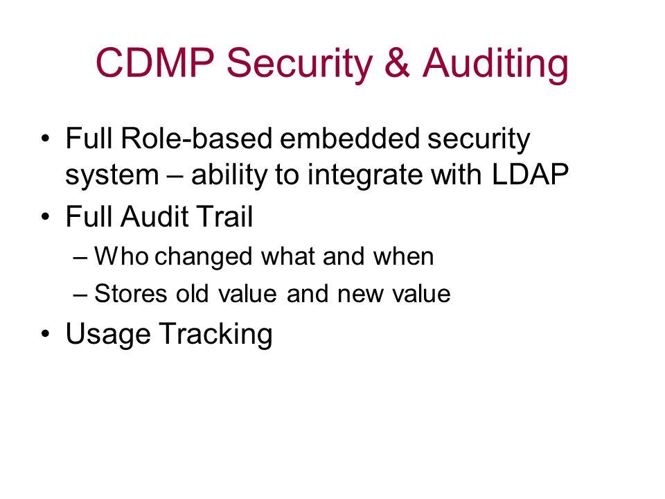 CDMP Security & Auditing