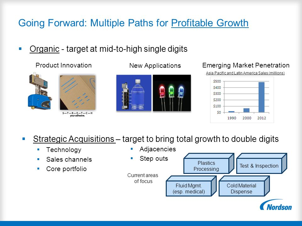 Going Forward: Multiple Paths for Profitable Growth