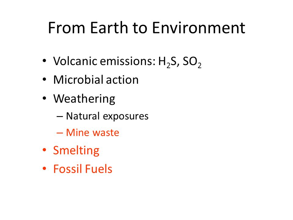 From Earth to Environment