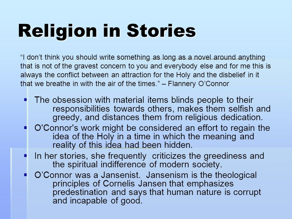 Religion in Stories