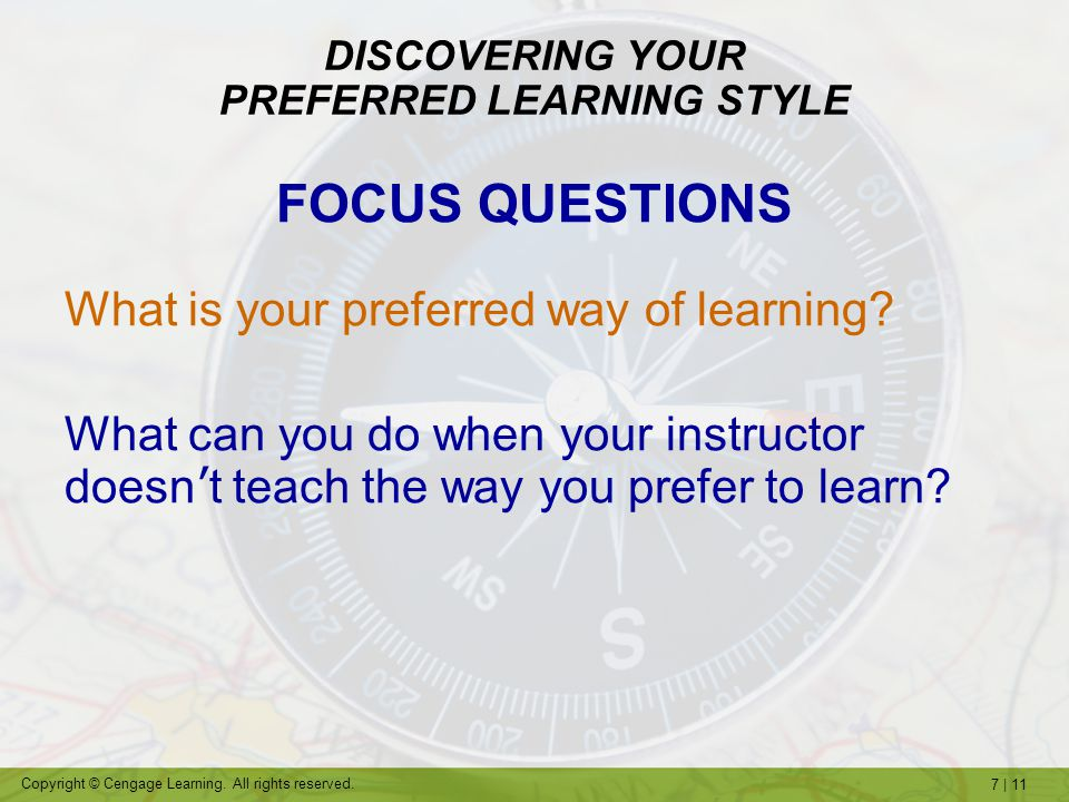 DISCOVERING YOUR PREFERRED LEARNING STYLE
