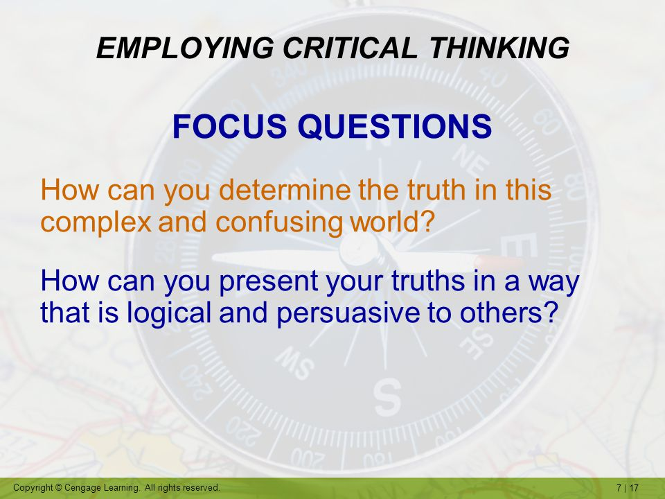 EMPLOYING CRITICAL THINKING