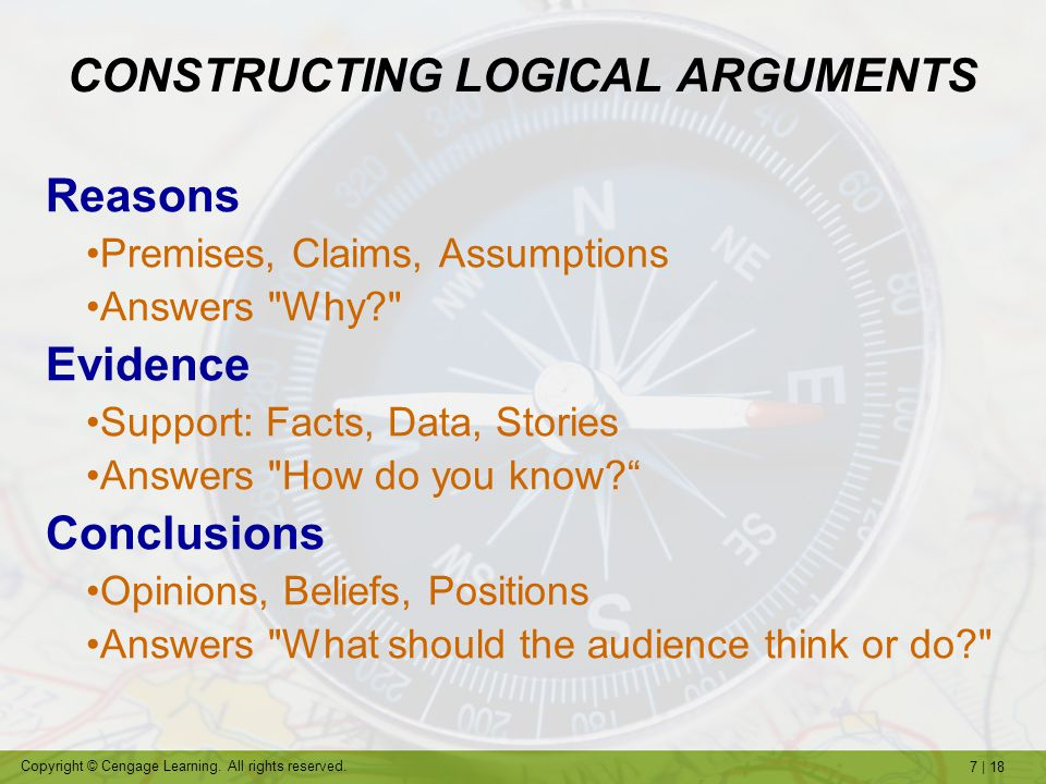 CONSTRUCTING LOGICAL ARGUMENTS