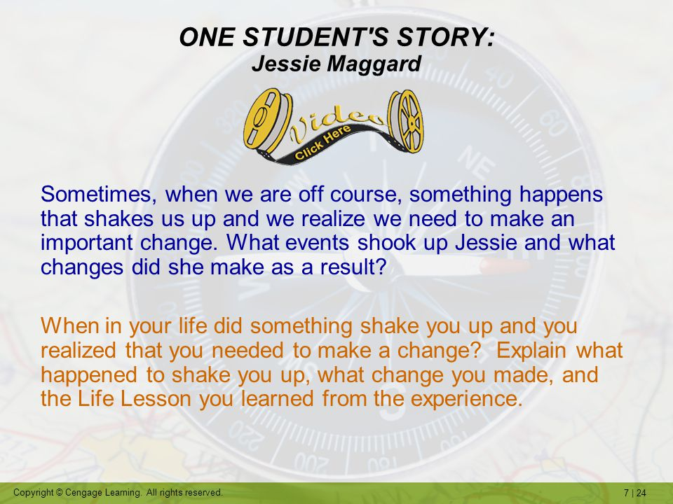 ONE STUDENT S STORY: Jessie Maggard